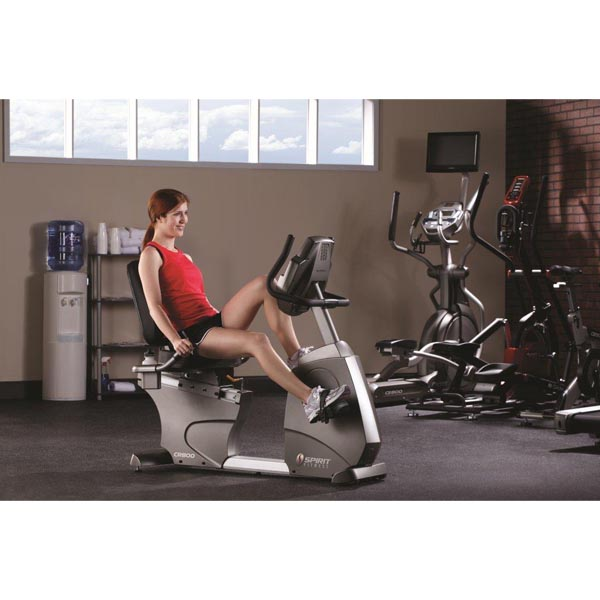 Cr800 v lo cardio training autoaliment semi couch recumbent spirit fitness - Velo appartement semi couche ...